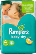 Pampers Baby Dry Extra Large No4  44 Τεμαχια