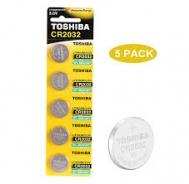 Toshiba μπαταρίες Alcaline Lithium CR2032 5 τεμάχια