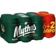 Mythos Μπύρα 330 ml x 6 +2