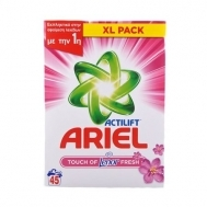 Ariel Actilift Touch of  Lenor Fresh Σκόνη Πλυντηρίου 45 Μεζούρες