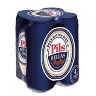 Pils Hellas Μπύρα  500 ml 4 Τεμάχια