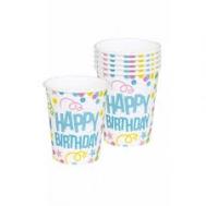 Ποτήρια Happy Birthday  6 Τεμάχια