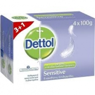 Dettol Classsic Σαπούνι Sensitive 100 gr 3+1 Δώρο