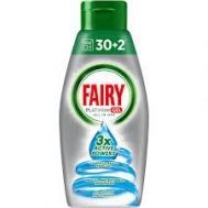 Fairy Platinum  Gel Υγρό Πλυντηρίου Πιάτων All in One  650 ml 30+2 μεζούρες Δώρο