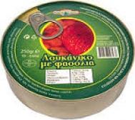 Μπάρμπα Yannis Λουκάνικο με Φασόλια 300 gr