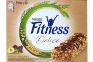Nestle Fitness Delice με Σοκολάτα και Φουντούκια Mπάρες Δημητριακών 6 x 22,5 gr