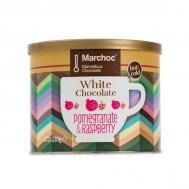 Marchoc Ρόφημα Σοκολάτας Λευκή Σοκολάτα  Rasberry & Ρόδι 230 gr