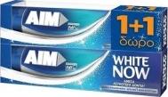 Aim Οδοντόκρεμα White Now 1+1 Δώρο