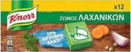 Knorr Κύβος Λαχανικών 120 gr με 25% λιγότερο αλάτι