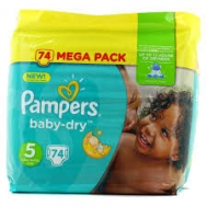 Pampers Baby Dry  No  5  Mega Pack 74  Τεμαχια