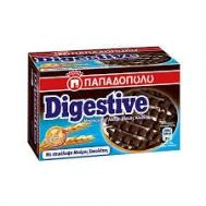 Παπαδοπούλου Μπισκότα Digestive Ολικής Άλεσης με Επικάλυψη Μαύρης Σοκολάτας   200 gr