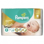 Pampers Premium care New Baby  No 2  38 Τεμαχια