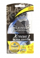Wilkinson Sword extreme 3  Black 3 + 1 Δώρο