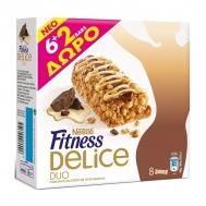 Nestle Fitness Delice Duo Σοκολάτα & Βανίλια Mπάρες Δημητριακών 6 x 22.5 gr