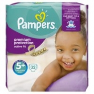 Pampers Active Fit 5+ 13-25 κιλά  37  Τεμάχια