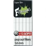 Filtraki Φιλτράκια Super Slim 72 Τεμάχια