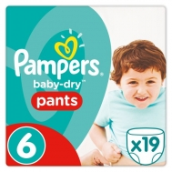 Pampers Πάνες No 6 Extra Large 16+ kg 19 Τεμάχια