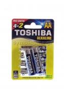 Toshiba μπαταρίες Alcaline AA  4 +2 τεμάχια