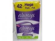 Always  Twist & Flex Normal Σερβιέτες 42 Τεμάχια