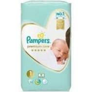 Pampers Premium care New Baby  No 1 52 Τεμαχια
