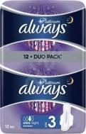 Always Platinum Ultra Night Σερβιέτες 12 Τεμάχια