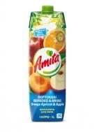 Amita Πορτοκάλι Βερίκοκο Μήλο 1 lt