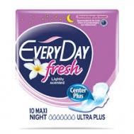 Everyday Fresh Ultra Plus Maxi Night Σερβιέτες 10 Τεμάχια