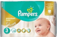 Pampers Premium care  No 3  40 Τεμαχια