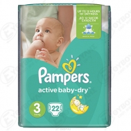 Pampers Active  Baby Dry  No  3  22  Τεμαχια