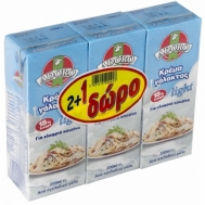 Adoro Κρέμα Γάλακτος Light 200 ml (2+1 Δώρο)