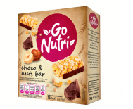 Go Nutri Μπάρα Δημητριακών με Φουντούκι και Επικάλυψη Σοκολάτας 6Χ25 gr