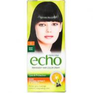 Echo Βαφή Μαλλιών No 1 με Εκχύλισμα Ελιάς και Βιταμίνη c 60 ml