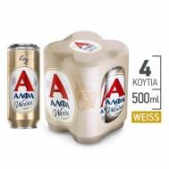 ΆΛΦΑ  Weiss Μπύρα  4 Χ 500 ml