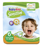 Babylino Sensitive Πάνες Νο 6 Extra Large 40 Τεμάχια