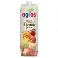 Agros Φυσικός Χυμός 8 Φρούτων 1 lt