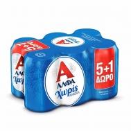 ΆΛΦΑ Μπύρα Χωρίς Αλκοόλ 330 ml x 6