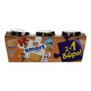 Δέλτα Smart Επιδόρπιο Γιαούρτι  Μπισκότο 145gr  2+1 Δώρο