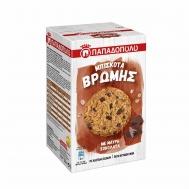Παπαδοπούλου  Μπισκότα Βρώμης με  Μαύρη Σοκολάτα 150 gr