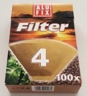 Alufix Φίλτρα για Καφέ No4  100