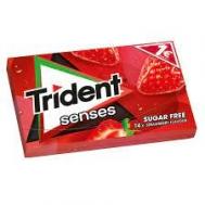 Trident Senses Τσίχλα StrawberryΧωρίς Ζάχαρη 27 gr