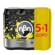 Ήβη Σόδα Water Lemon  6 Χ 330 ml