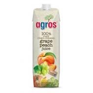 Agros Χυμός Σταφύλι - Ροδάκινο 1 lt