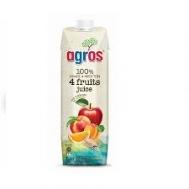 Agros Φυσικός Χυμός 4 Φρούτων 1 lt