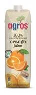 Agros Φυσικός Χυμός Πορτοκάλι 100% 1 lt