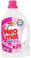 Neomat Total Υγρό Πλυντηρίου Άγριο Τριαντάφυλλο 75 Μεζούρες