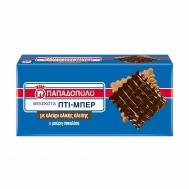 Παπαδοπούλου Πτι Μπερ Ολικής Άλεσης & Μαύρη Σοκολάτα 200 gr