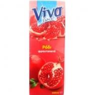 Viva Ρόδι Φυσικός Χυμός με Σταφύλι και Φράουλα 1 L