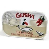 Geisha  Σαρδέλες Πικάντικες 125 gr