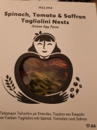 Melima Τρίχρωμο Ταλιολίνι με Σπανάκι , Τομάτα και Σαφράν 500 gr